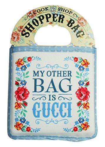 Cook Shop 207010022 Einkaufstaschen My other bag is Gucci, Hellblau