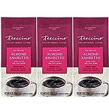 Teeccino Chicory Coffee Alternative – Almond Amaretto – Ground Herbal Coffee That's Prebiotic, Caffeine Free & Acid Free, Medium Roast, 11 Ounce (Pack of 3)