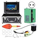 Cámara de búsqueda de peces submarina, 7 pulgadas 1080P Monitor LCD DVR Grabadora Cámara de pesca, 6 piezas IR LED/IP68 a prueba de agua Cámara de búsqueda y artículos de agua con profundidad(EU)