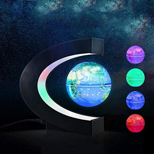 ZHTY Le Monde Globe électronique Globe magnétique de lévitation magnétique Lumineux Multicolore LED pour la décoration de Bureau de Bureau Enfants éducatif (3 Pouces), modèle HND-031