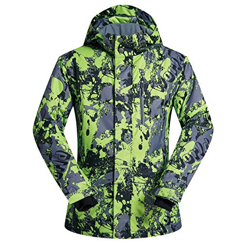 QWERTU Outdoor Ski Suit Winter Jacket Windproof Coat Padded Warm Waterproof Windproof Breathable for Hunting Fishing Shooting Camping Rowing,XXL