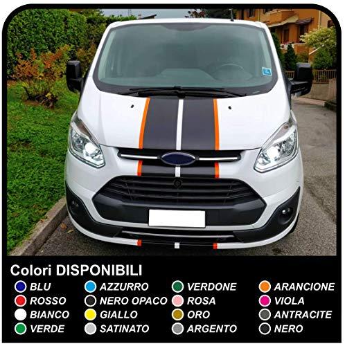 Van grafiche furgone adesivi decalcomanie strisce bicolore van e furgone (NERO BORDO ARANCIONE (COME IN FOTO))