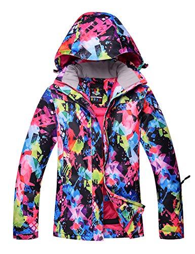 APTRO Damen Skijacke Winter Jacke warm gefüttert Outdoor Funktionsjacke Regenjacke Mehrfarbig 779 S