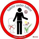 immi 4St. Keinen Müll in Toilette, WC sauber halten, Toilette/WC Aufkleber, 95mm