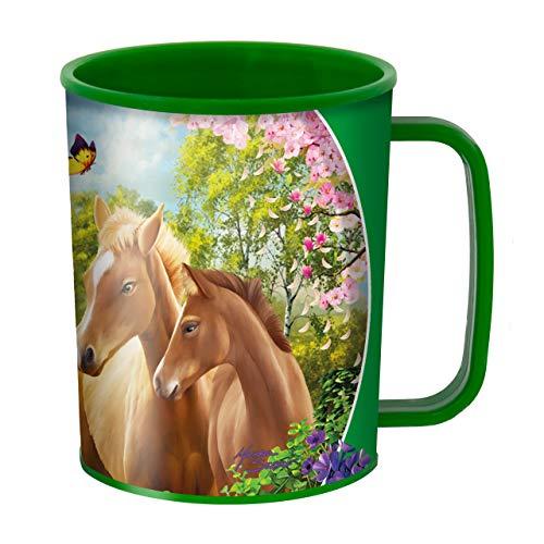 3D LiveLife Bicchiere - Pascoli Più Verdi di Deluxebase. Bicchiere in plastica Cavallo 3D Lenticolare. Bicchieri in plastica da 300ml per bambini con grafica originale del noto artista Michael Searle