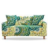 WXQY Funda de sofá Bohemia Mandala Funda de protección elástica para Muebles Cuatro Estaciones Funda de sofá antisuciedad elástica A6 4 plazas