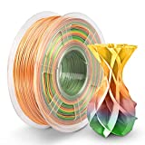 PLA Silk Rainbow Filament 1.75mm, PLA Silk Filament 3D Printer 1KG Shiny Multicolored, Silk Rainbow