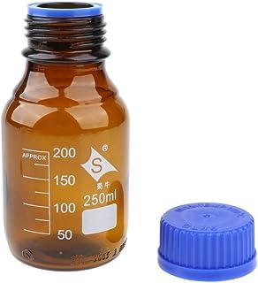 Labor chemische Reagenzflasche 200ml//6,8oz Breitmund Fl/üssigkeit Versiegelungsbeh/älter sourcing map 5 Stk