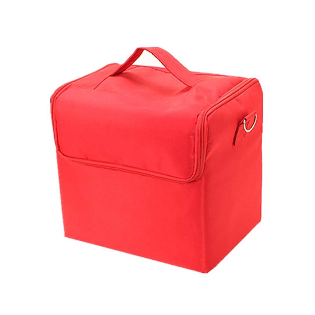 腐敗振り子移住する化粧オーガナイザーバッグ 純粋な色のカジュアルポータ??ブル化粧品バッグ美容メイクアップとトラベルで旅行 化粧品ケース