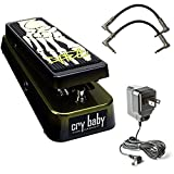 Dunlop KH95 Kirk Hammett Signature Cry Baby Wah Pedal Bundle with 2 Patch Cables and Dunlop 9V Power Supply