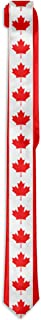 Mens Canada Flag Pattern Novelty Necktie Business Skinny Tie For Wedding Prom Party