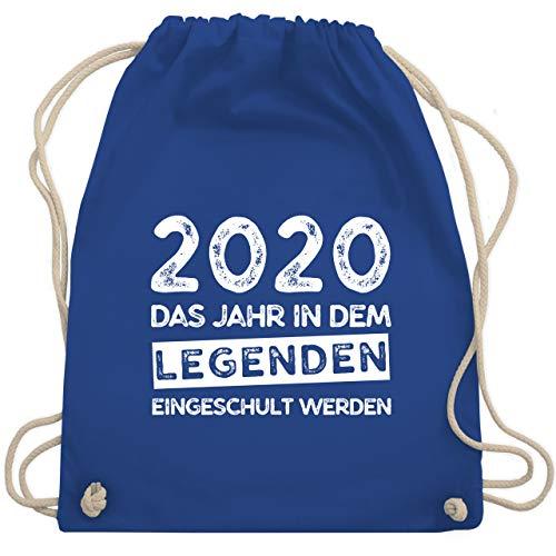Einschulung und Schulanfang - 2020 Das Jahr in dem Legenden eingeschult werden - Unisize - Royalblau - turnbeutel jungs schulanfang legenden - WM110 - Turnbeutel und Stoffbeutel aus Baumwolle