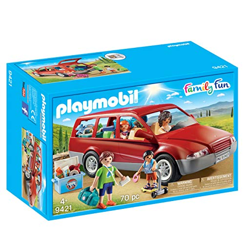 Playmobil- Family Fun-Coche Familiar Conjunto de Figuras, Multicolor (9421)