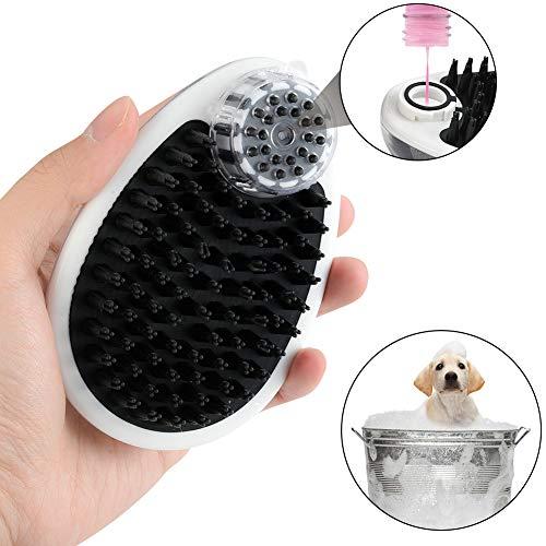 Furpaw Hundebürste, Bürste Baden mit Hundeshampoo Massage Baden für Hunde Katze, Gummi mit Mausform