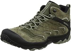 Merrell Men's Chameleon 7 Limit Mid Waterproof Hiking Boot, Dusty Olive, 8 Medium US