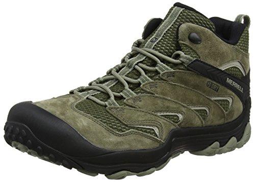 Merrell Men's Chameleon 7 Limit Mid Waterproof Hiking Boot, Dusty Olive, 7 Medium US