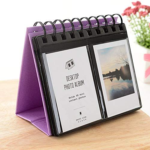 Helloween Mini-Fotoalbum für Fujifilm Instax Mini 7s 8 8+ 9 25 26 50s 70 90 Sofortbildkamera und Namenskarte (Kalenderalbum), Violett