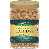 Planters Fancy Whole Cashews With Sea Salt, 33 Oz. Resealable Jar - Snack For Adults Made ...