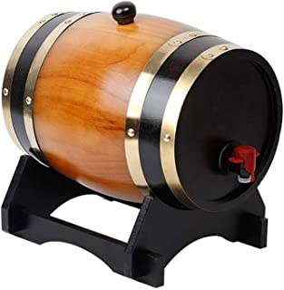 yunyu Tonneau de chêne Tonneau de vin de chêne en Bois Vintage, fûts de bière de Seau de Stockage, Distributeur de vin de ...