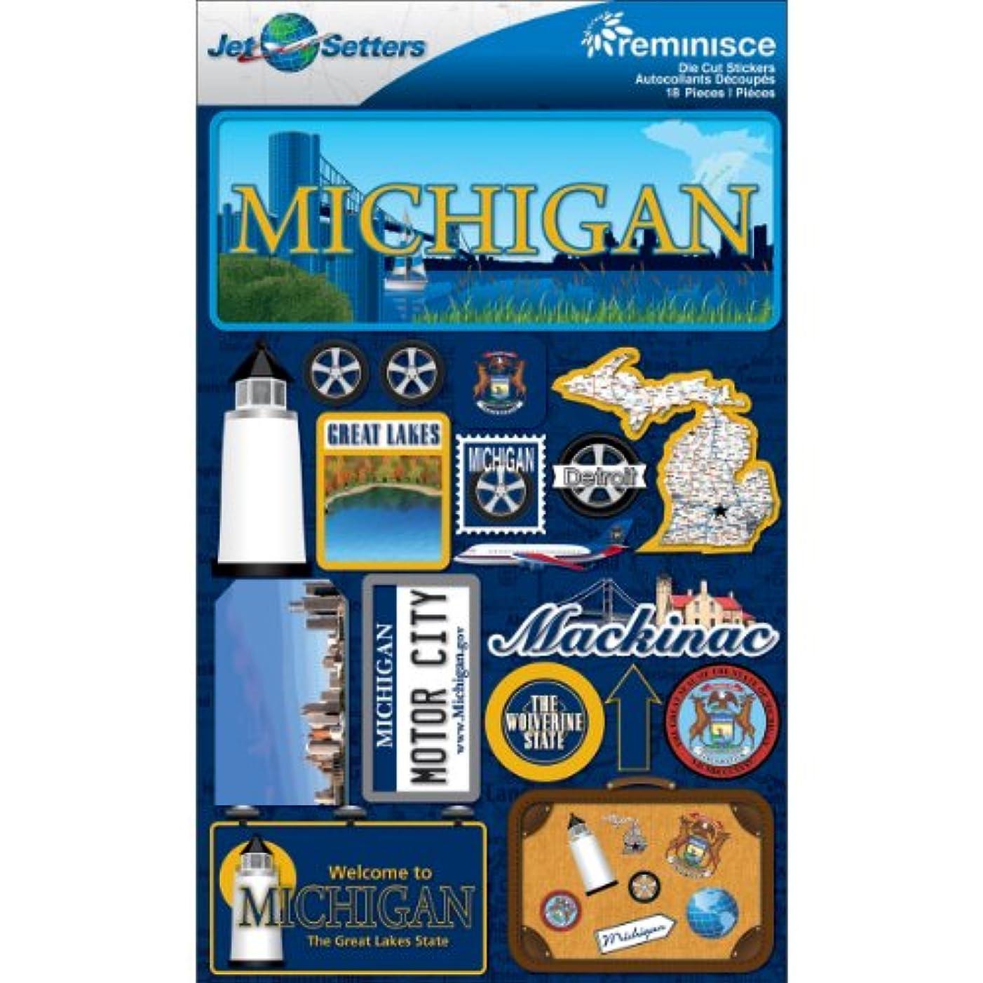Reminisce Jet Setters 2 3-Dimensional Sticker, Michigan