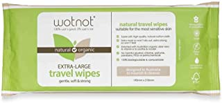 Wotnot Biodegradable Natural 20 Baby Wipes Travel Pack, 20 Count