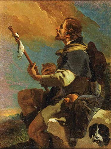 "Art Wall Decor Aluminum Sign 16""x12""Giovanni Battista Tiepolo(Saint Roch),Heavy Duty Living Fun Chic Drinking Funny Decor Art Metal, Vintage Retro Home Decoration Metal Signs"