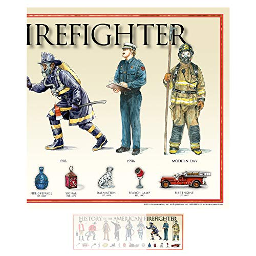 """History of the American Firefighter Print - 11 3/4"""" By 36"""" Montana"""