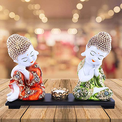 Set of Two Baby Buddha Idol | Buddha Statue for Home Decor House WARMIING Gift Peace and Harmony