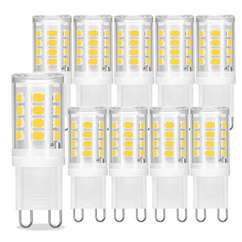 Bombillas LED G9, 3W, 4000K Blanco natural, 280LM, Bombillas halógenas equivalentes a 28W, Lámparas LED de ahorro de energía, CRI 85, Sin parpadeo, CA 220V - 240V, No regulable, Paquete de 10, Viaus