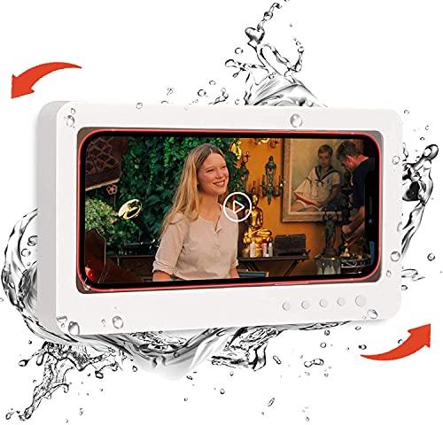 WeLohas - Soporte para teléfono de ducha (rotación de 360 º), soporte impermeable para baño, estante para teléfono móvil, soporte...