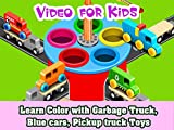 Learn Color with Garbage Truck, Blue cars, Pickup truck Toys