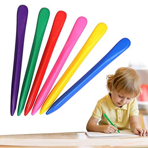Non Toxi Kids Toddlers Triangular Crayon 36 Colors Washable Coloring Crayon Set Colorful Drawing Art Crayons School Office Supplies Art Tools for Children Boys Girls