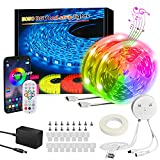 LED Strip Lights RGB Led Strip Lights KESHU Led Lights for Bedroom 50FT Smart...
