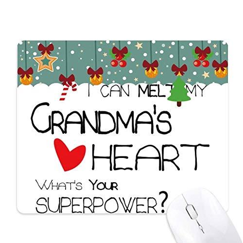 ik kan smelten mijn oma's hart nana muis pad spel office mat kerst rubber pad