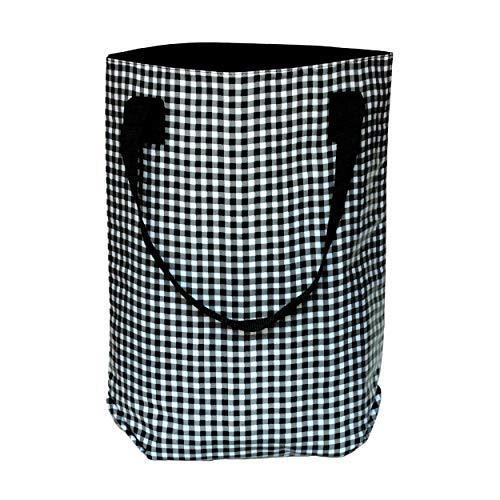IKURI Shoppertasche Damen - Elegant Wasserabweisender Beutel Einkaufsbeutel Bag Mehrfarbig Tragetasche aus Wachstuch Kariert mit Großer Öffnung - Design Vichy