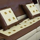 LH Funda de sofá de Cuero sintético, Fundas seccionales Fundas de sofá Impermeables for Mascotas Protector de Muebles Antideslizante (Color : Camel, Size : 60x210cm)