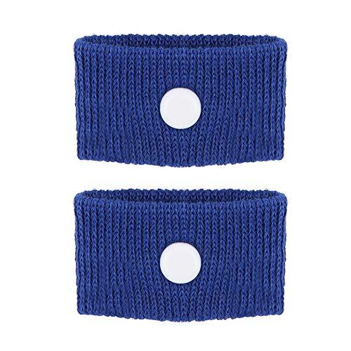 Bracelet anti-dégoûtant pour autobus, 5 couleurs pour le mal des transports/le mal de mer/les nausées matinales, Bracelet ajustable anti-nausée, Renforcer l'immunité, (bleu)
