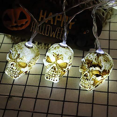 SWTHXY Halloween-lichtsnoer, 10 leds, Ghost-lichten, Halloween-lichtketting, voor buiten, decoratie voor huis, tuin, kerstboom