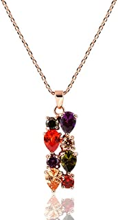 Swarovski Elements Crystal Rose Gold Plated Multicolor Flower Cubic Zirconia Jewelry Sets for Women, Gifts for Women (1, P...