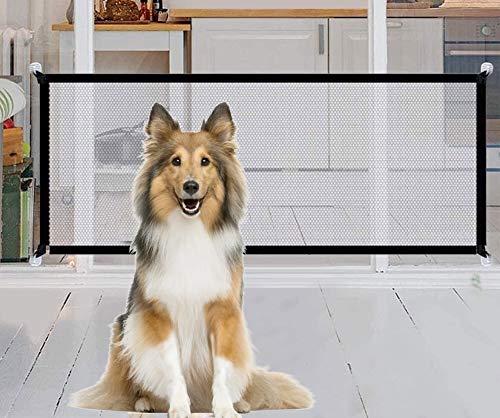 HIQE-FL Tragbar Hunde Türschutzgitter,Magic Gate Faltbar Hunde,Türschutzgitter Hundeschutzgitter,Hunde Türschutzgitter Faltbar,Hundebarrieren,Hundeschutzgitter Absperrgitter