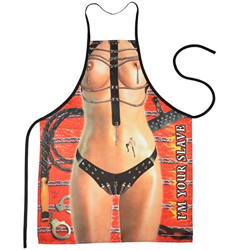 Mega Sexy keukenschort kookschort BBQ-schort met gratis certificaat - Domina - hete grappig artikel carnaval geschenk cadeau-idee