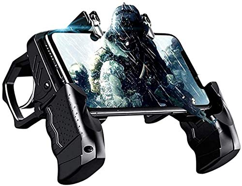 LYTIVAGEN Mobile Game Controller PUBG Handy Controller Gamecontroller Mobile Gaming Triggers Handy Gamepad 4 Fingers Mobile Trigger Handycontroller für Gamepad IOS Android