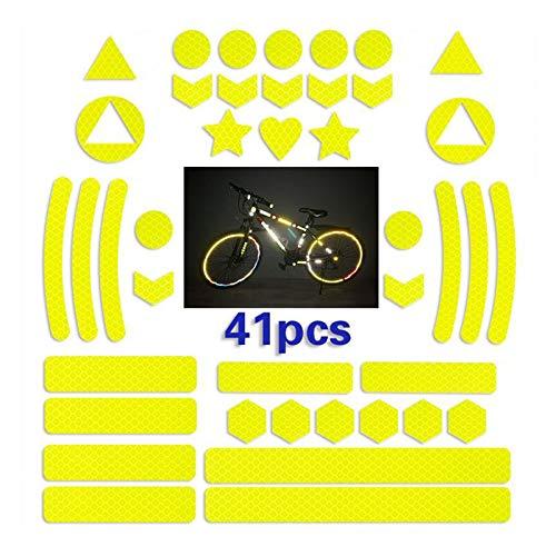 Mirrwin Luminosos Cinta Reflectante Adhesivos Reflector Stickers Reflector Stickers para el Marcado de Seguridad de Cochecitos,Bicicletas,Cascos con Pegatinas Autoadhesivo y Altamente Reflectante