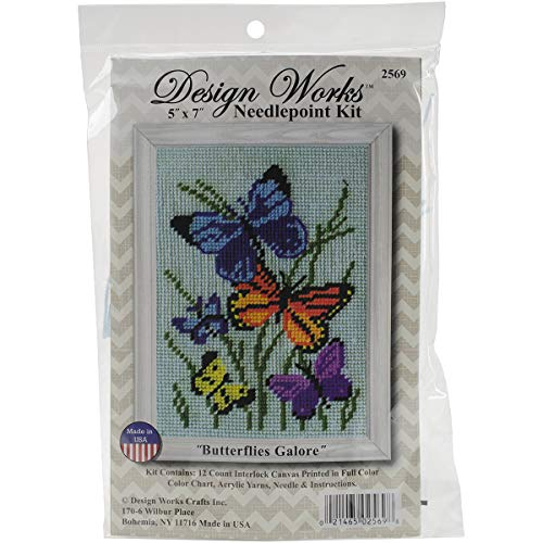 Design Works Crafts, 5' x 7' Needlepoint Kit Butterflies Galore