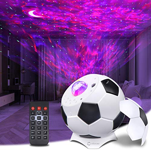 Proyector Estrellas Techo Adultos, COOLHOOD Lampara Estrellas Proyector con Bocina Bluetooth/Control Remoto/Temporizador, Proyector de Luz Estelar para Niños/ Decoración/ Regalo/ Dormitorio/ Fiesta