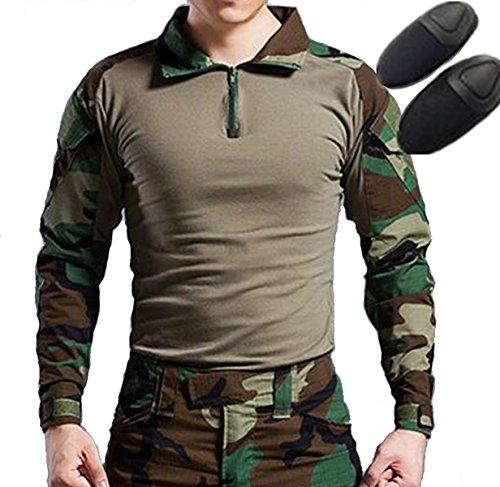 H World Shopping Taktisches Jagd-Trikot mit Ellenbogenschonern, Militär-Stil, Größe M, Tarnfarben