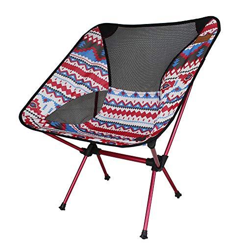 Sillas de Camping, Silla Silla Plegable Ligero Mochila portátil MAX. 150 kg Capacidad de Carga