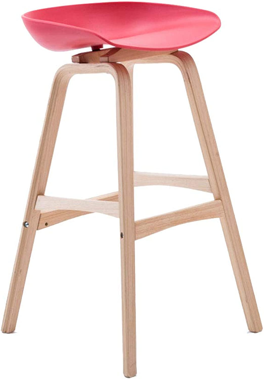 Barstools Bar stools Bar stools Wood Bar stools for Kitchens Suitable for Kitchen Family Breakfast Home Cafe Bar Office mall Counter Counter Height Swivel Seat (color   E, Size   65CM)