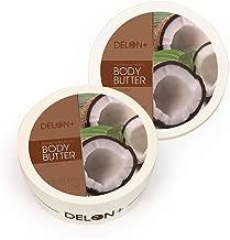 DELON Intense Moisturizing Coconut Body Butter - 6.9 Oz (2-Pack)
