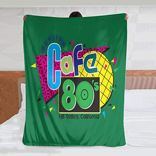 niaoyun -Cafe 80s Ultra Soft Überwurfdecke Flanell Fleece Ganzjahresdecke Leichtgewicht Wohnzimmer Schlafzimmer Warme Decke 203 × 152 cm